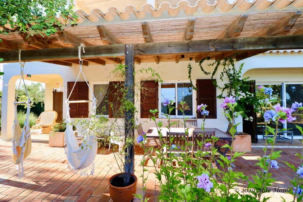 Propetry rental - home Quelfes Olhao - terrace with sea view