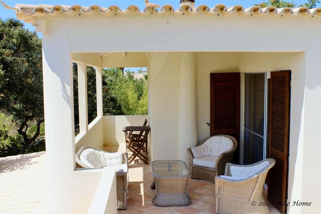 Rena a holiday house Quelfes Olhão Algarve lounge set 1st floor terrace with sea view