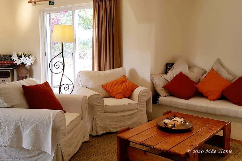 Living room holiday villa Quelfes Olhão