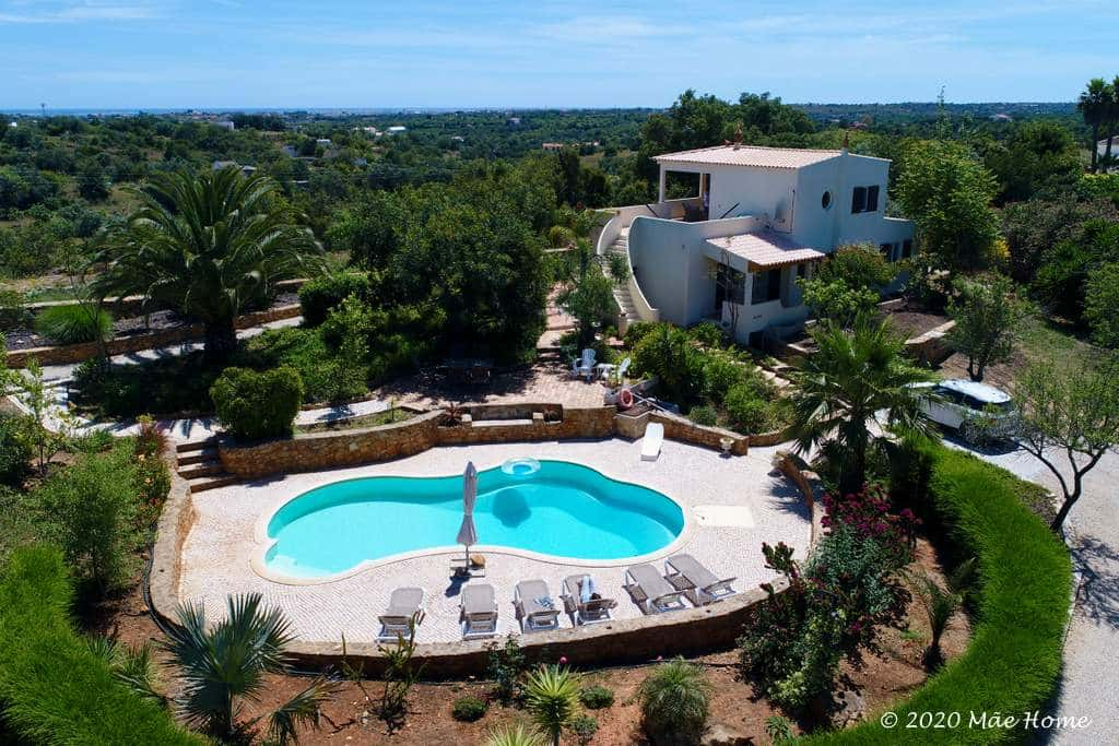 Holiday homes property rental Quelfes Olhão Algarve - Panorama around villa and pool